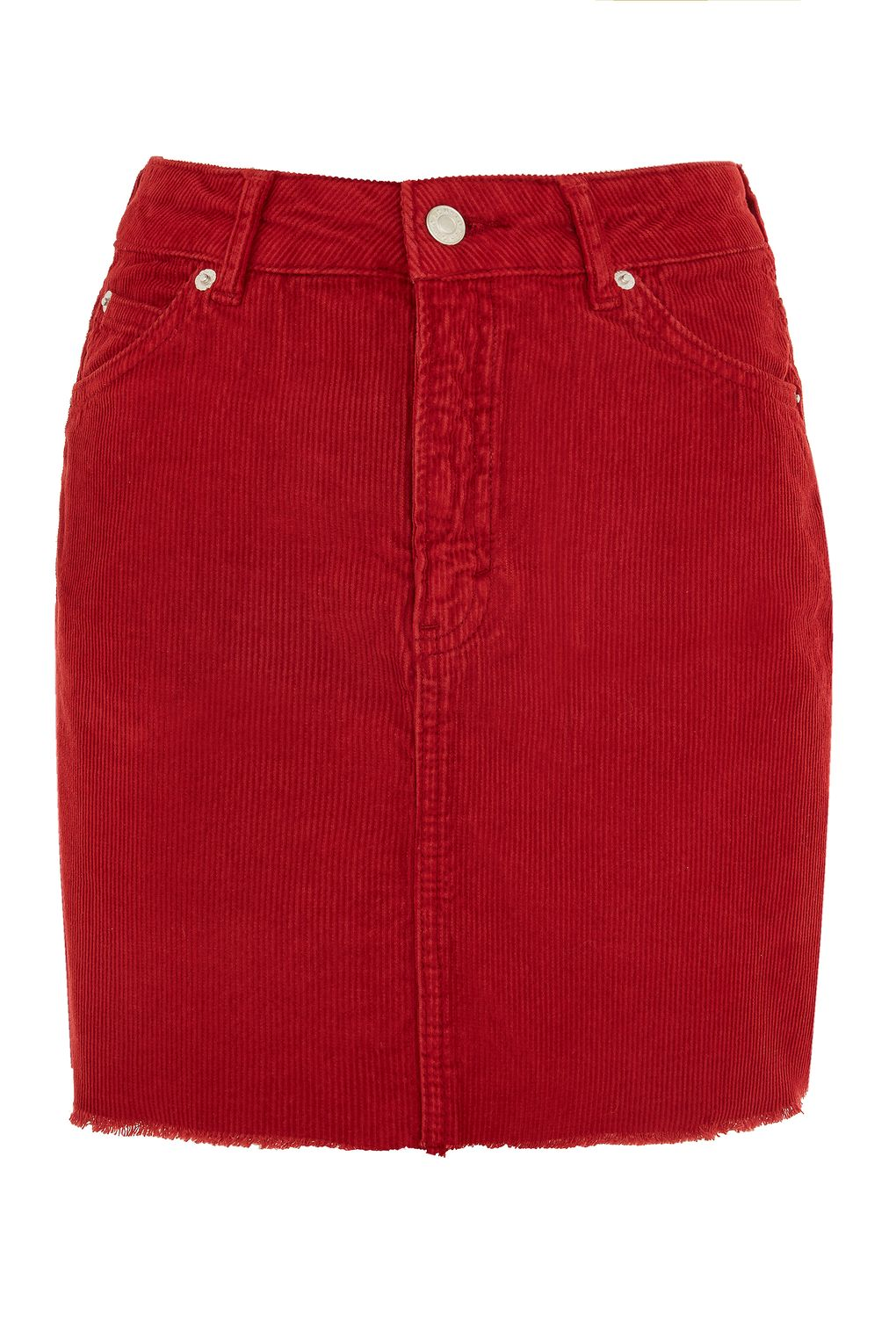 Red CordSkirt - @topshop