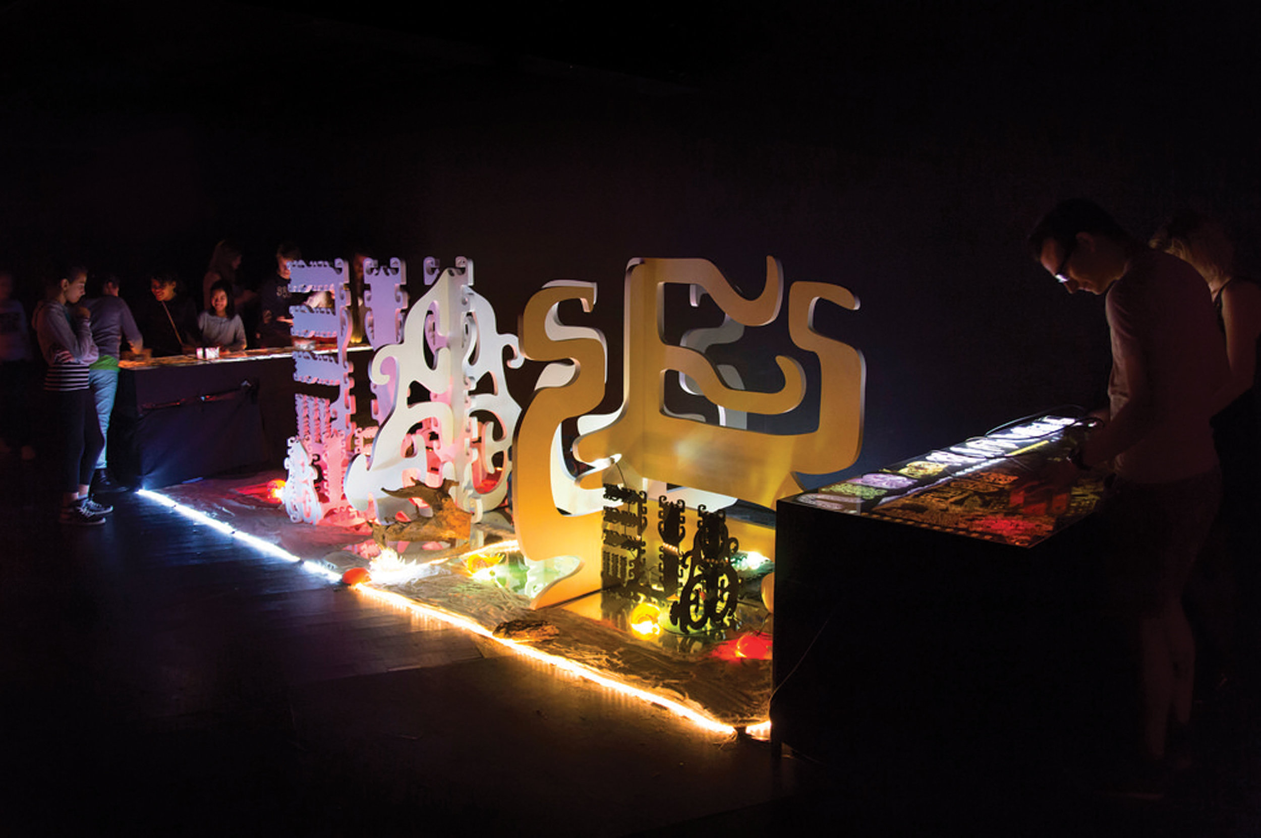 an interactive MSHR installation at the Maison des Arts de Créteil in Créteil, France