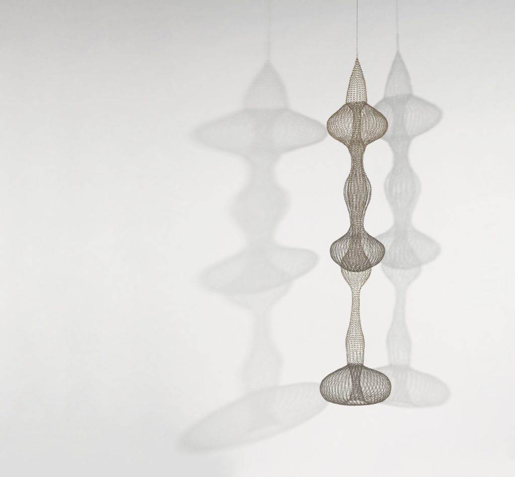 Ruth Asawa,  Untitled (S.540, Hanging, Seven- Lobed, Interlocking Continuous Form within a Form) (c. 1958).  Image courtesy of  Hyperallergic.