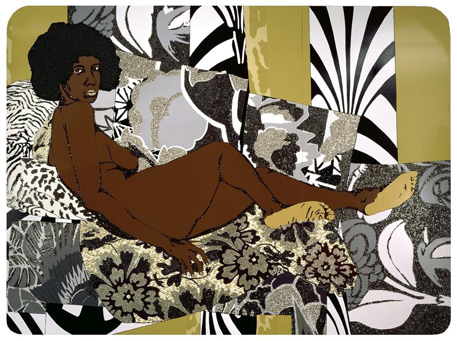 Mickalene Thomas, A Little Taste Outside of Love (2007). Image courtesy the artist and Lehmann Maupin gallery /Frieze Magazine .