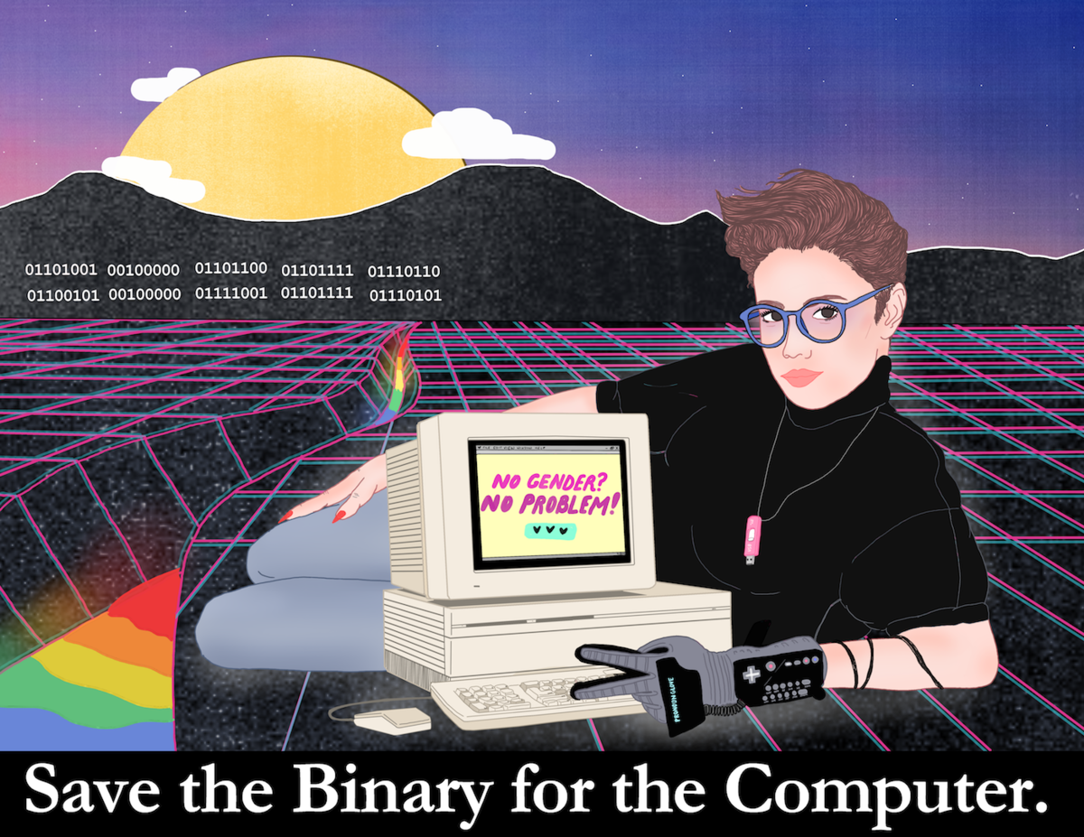 Liberal Jane,  Save the Binary  (2018). Image courtesy the artist/ Artsy .