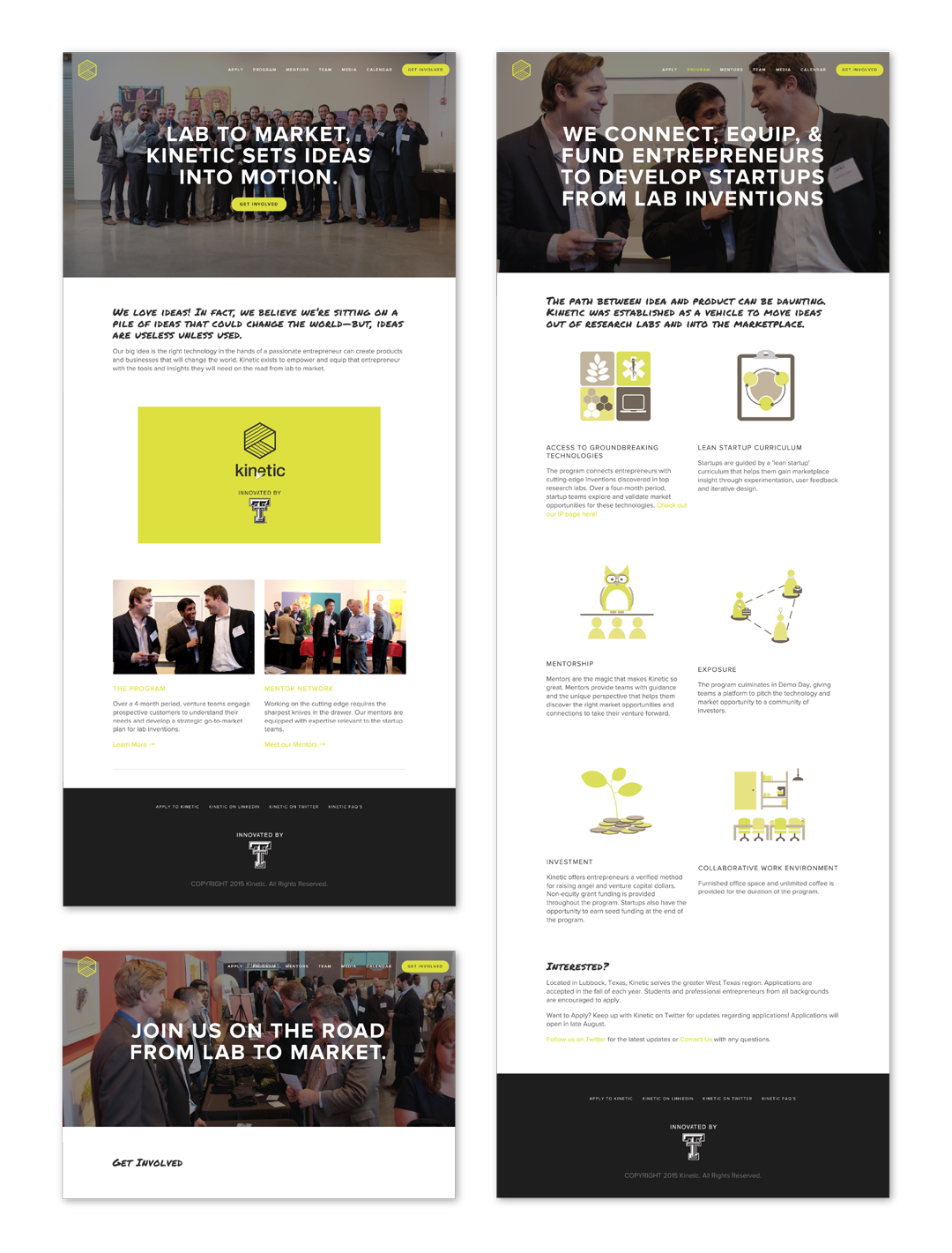 Website layout and copy