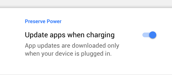 F-Droid app store, Battery setting