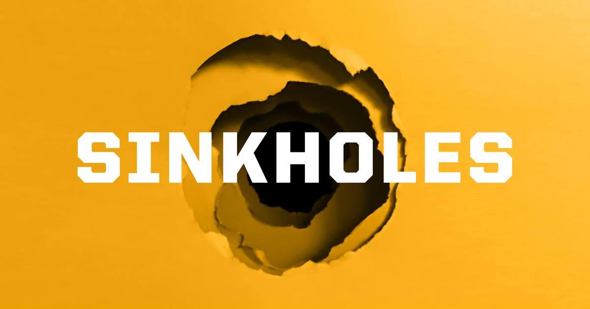 sinkhole warning signs
