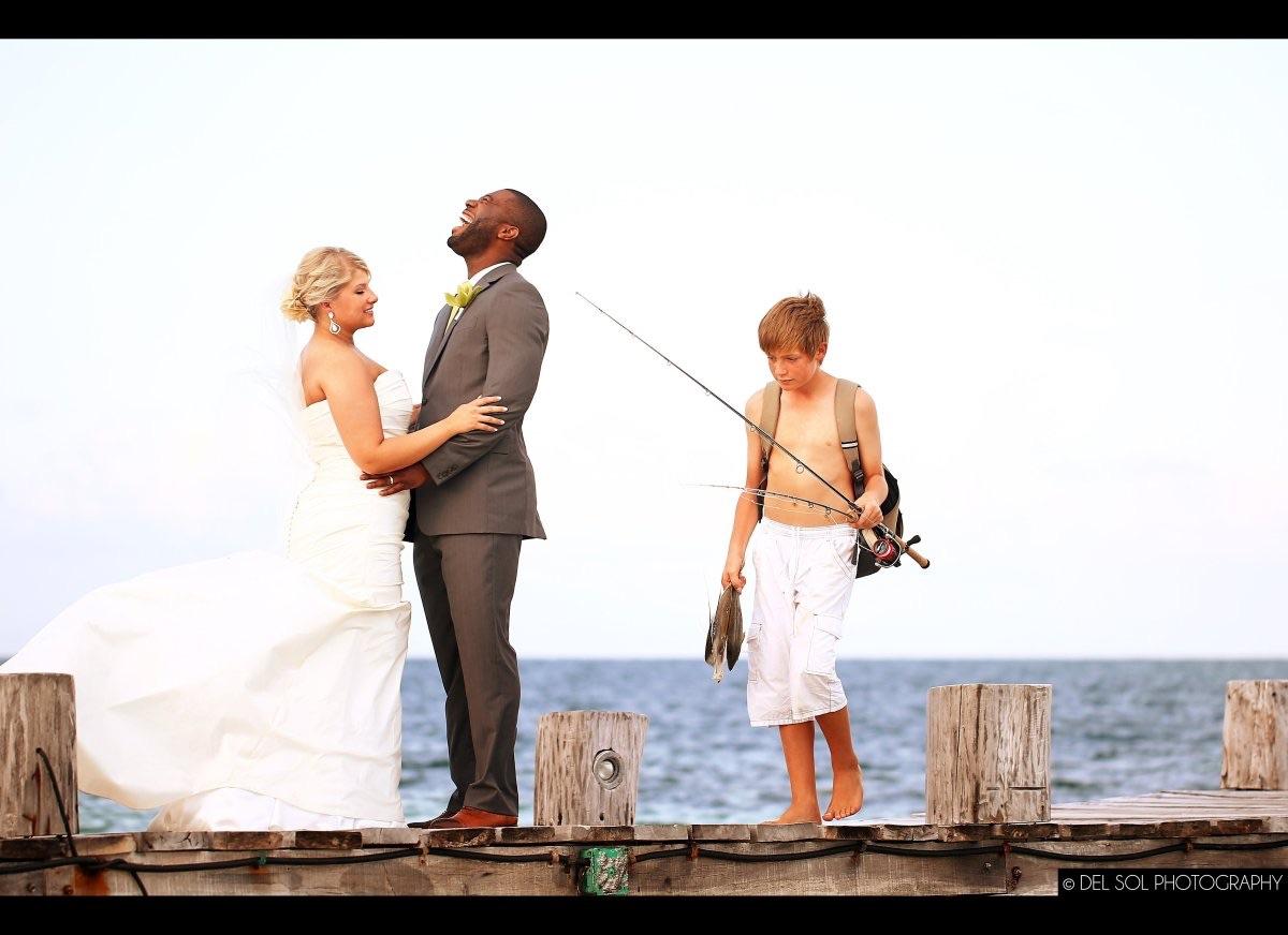 The groom looks hungry