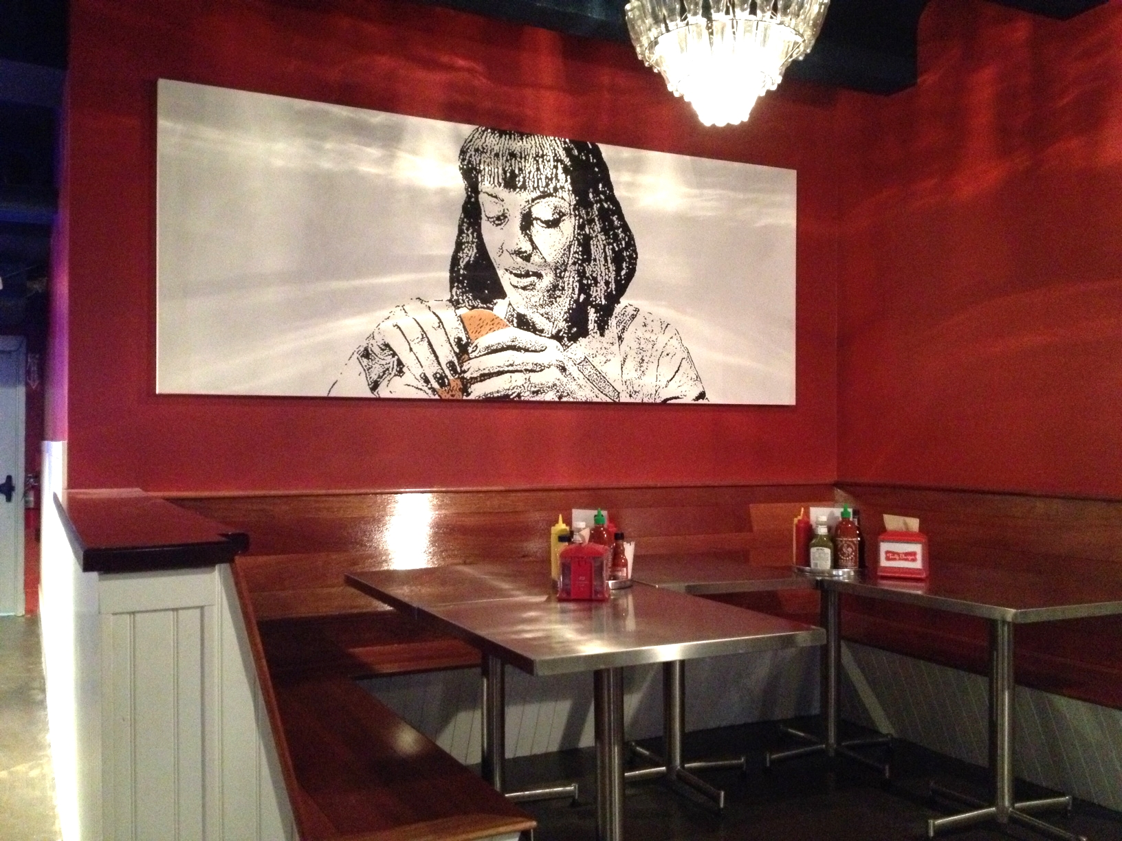 Commissioned painting for Tasty Burger Restaurant