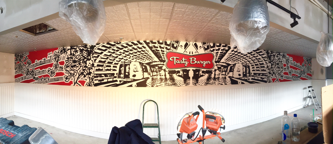 Commissioned Mural, Tasty Burger