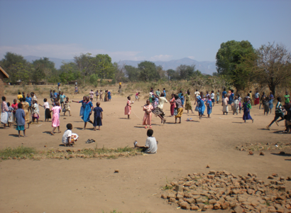 Children playing at break time.