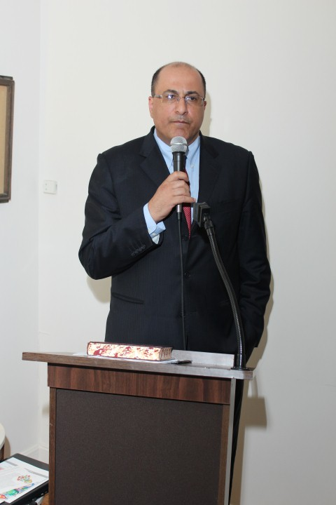 Consule General Ido Aharoni addressing his AFYBA guests about the impact Yeshivot Bnei Akiva has in Israel and the latest crisis with Operation Protective Edge.