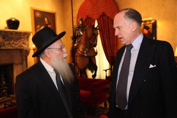 Rabbi Drukman and Ron Lauder