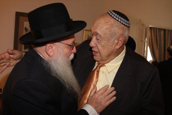 Rabbi Drukman with Nasan Friedman, Chairman of Bnei Akiva North America