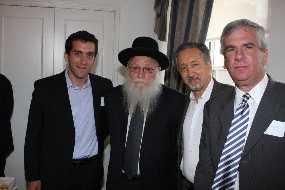 Rabbi Drukman with Yoel Kuzniecky, Dr. Rubin Kuzniecky and Jeffrey Parker