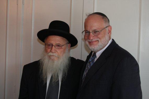 Rabbi Drukman with Rabbi Steven Pruzansky