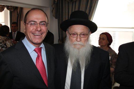 Vice Prime Minister Silvan Shalom with Rabbi Drukman