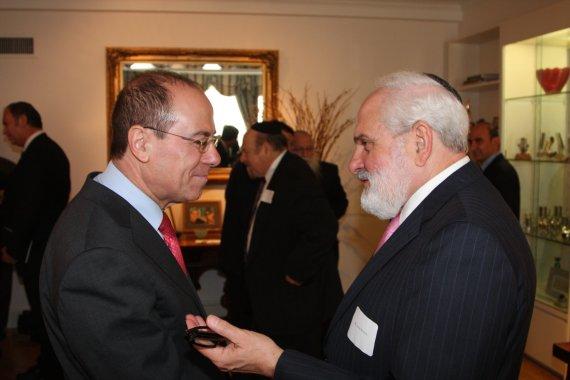 Vice Prime Minister Silvan Shalom with Joshua Bernstein