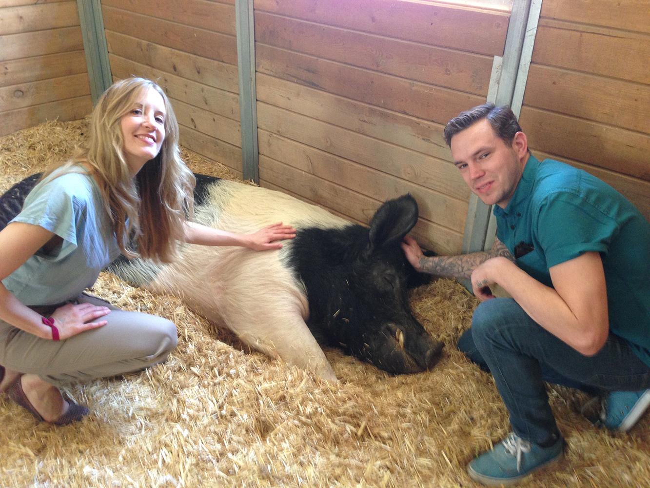 Jessica Blotter with co-founder Sean Krejci