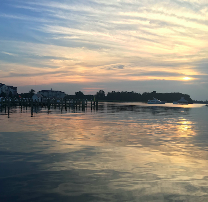 Sunset alongside the banks of the Choptank River.