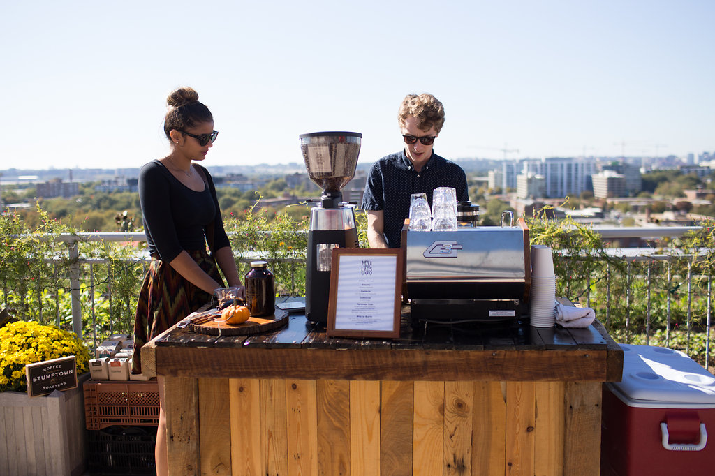 Nova Coffee Labs pop-up cart at the Up Top Acres event. (Photo by Jennifer Chase)