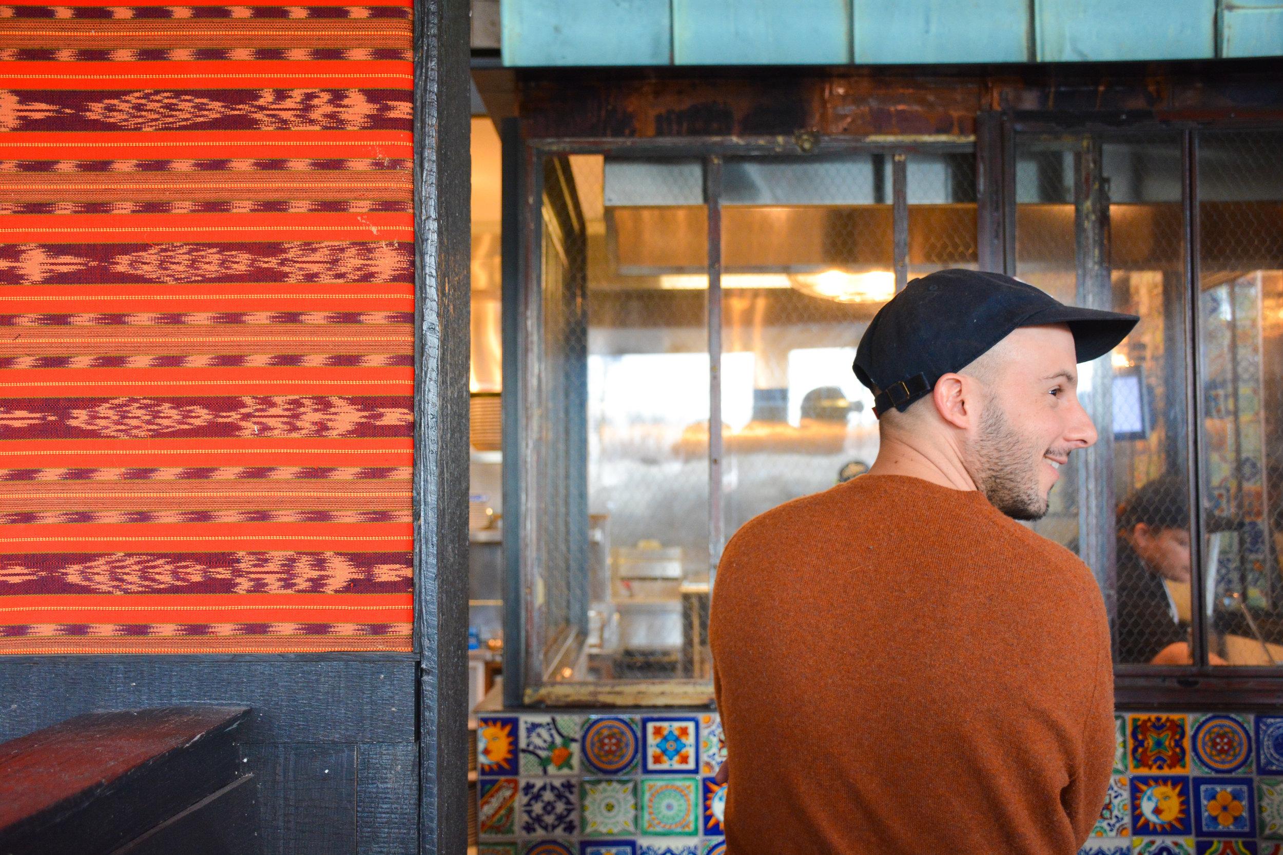 Ari Gejdenson, founder of Mindful Restaurant Group, at La Puerta Verde