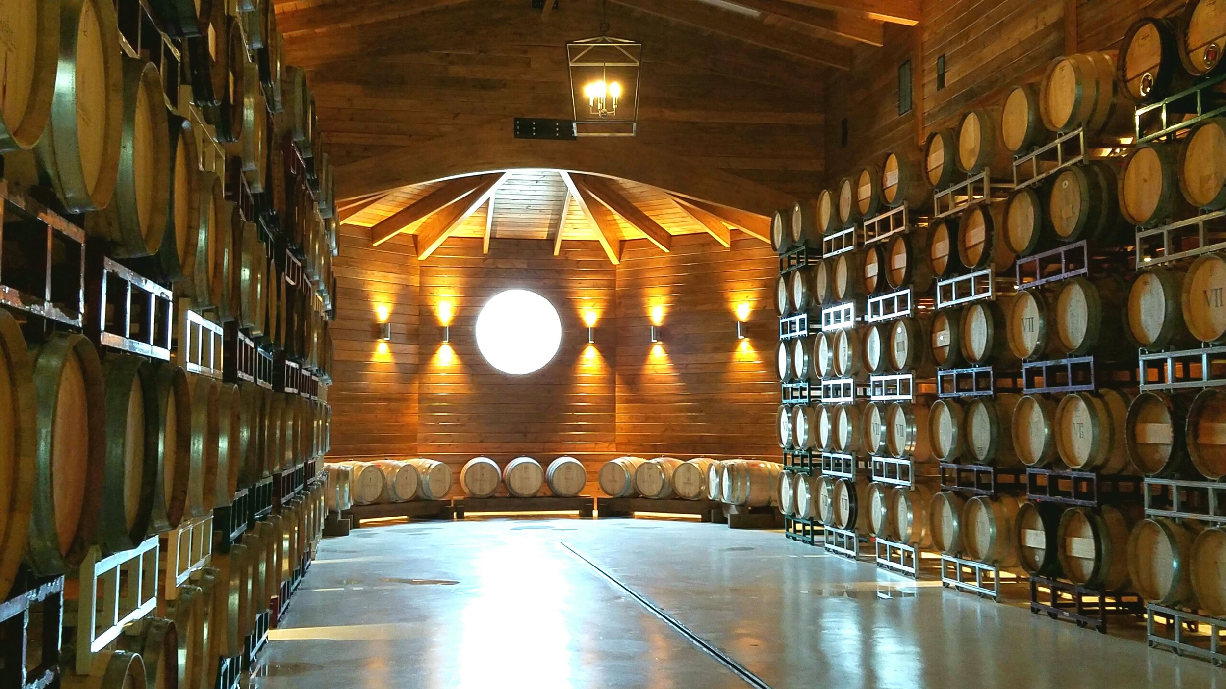 The stunning Barrel Room is lined floor to ceiling with oak paneling and has a pitched ceiling with flying wood buttresses. Greenhill has been using it for special dinner events and receptions, including a special Valentine's Day seated dinner.