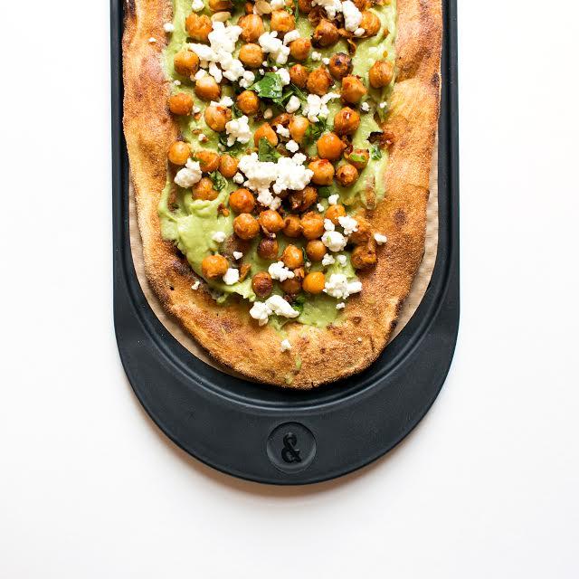 Pizza avocado toast for breakfast at &pizza.  (photo courtesy of &pizza)