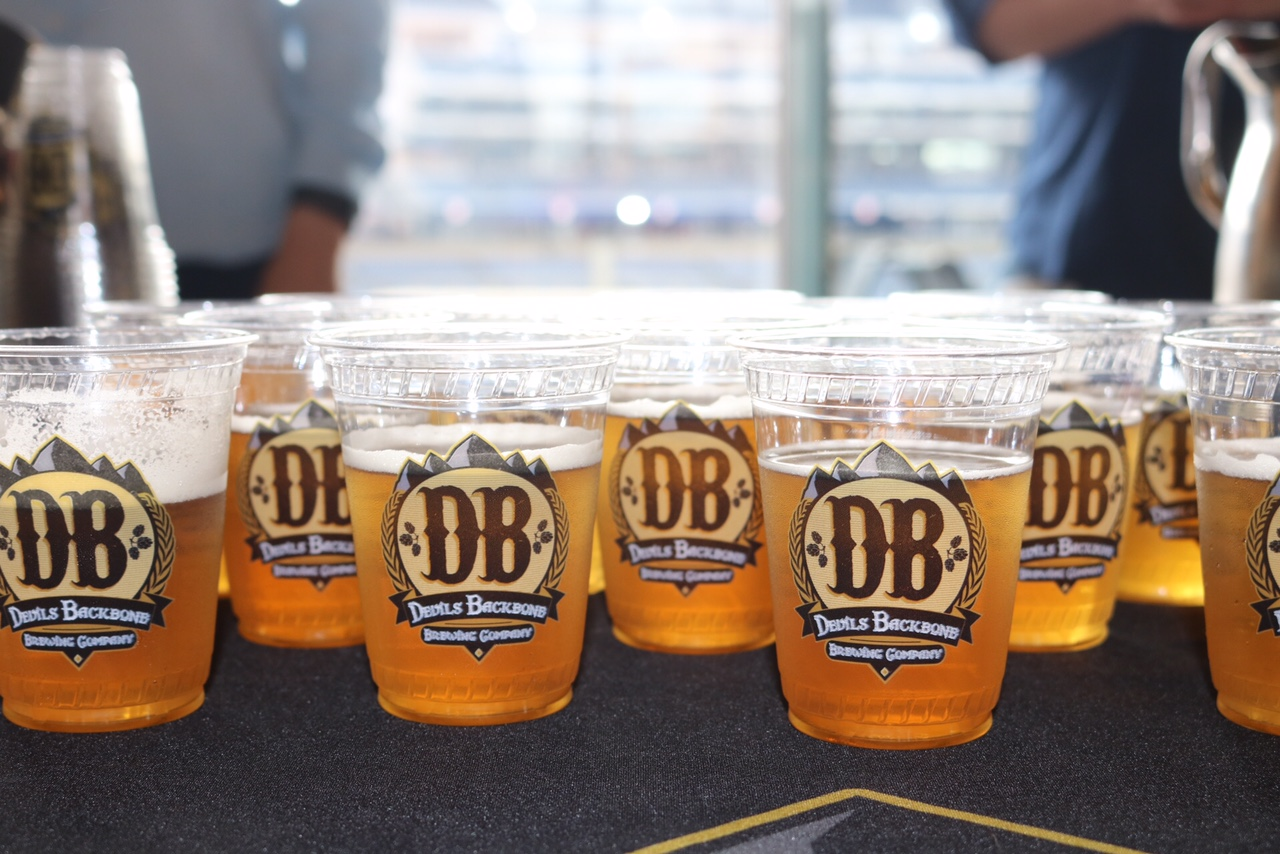 The new Devils Backbone Earned Run Ale. (Photo courtesy of the Washington Nationals)
