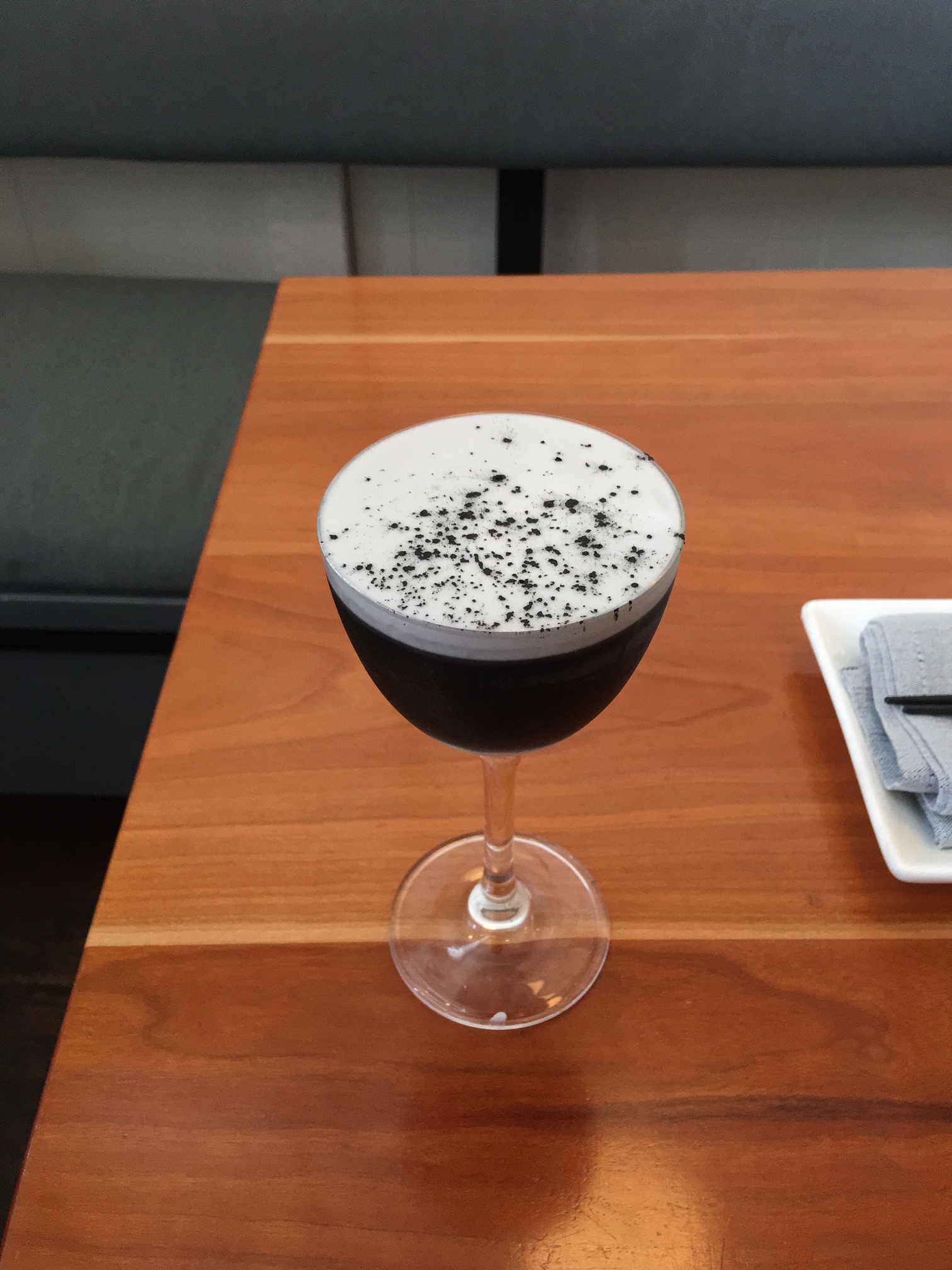 The Black Out cocktail at Himitsu.