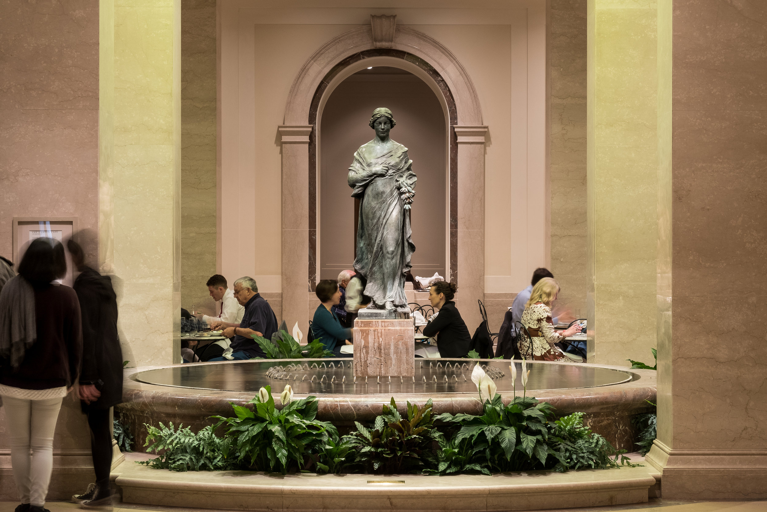 The Garden Cafe at the National Gallery of Art West Building. ( Photo compliments the National Gallery of Art )