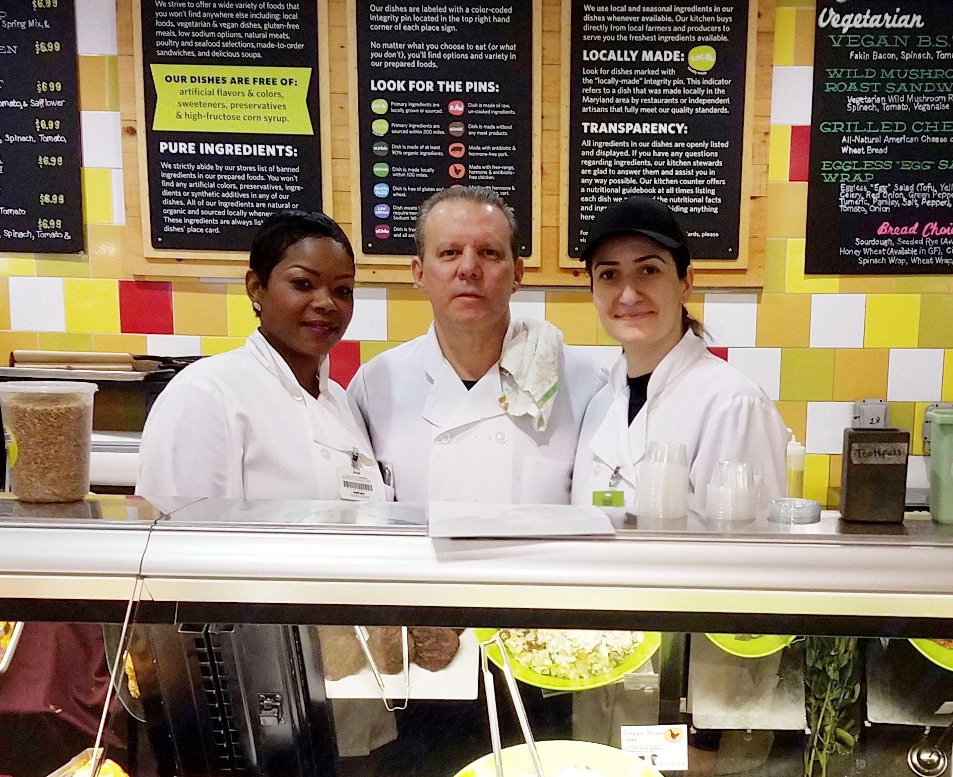 Dawson's kitchen team is ready for you. From left, Natalie Walker, Executive Chef Rich Stafford, and Marina Gagikyan.