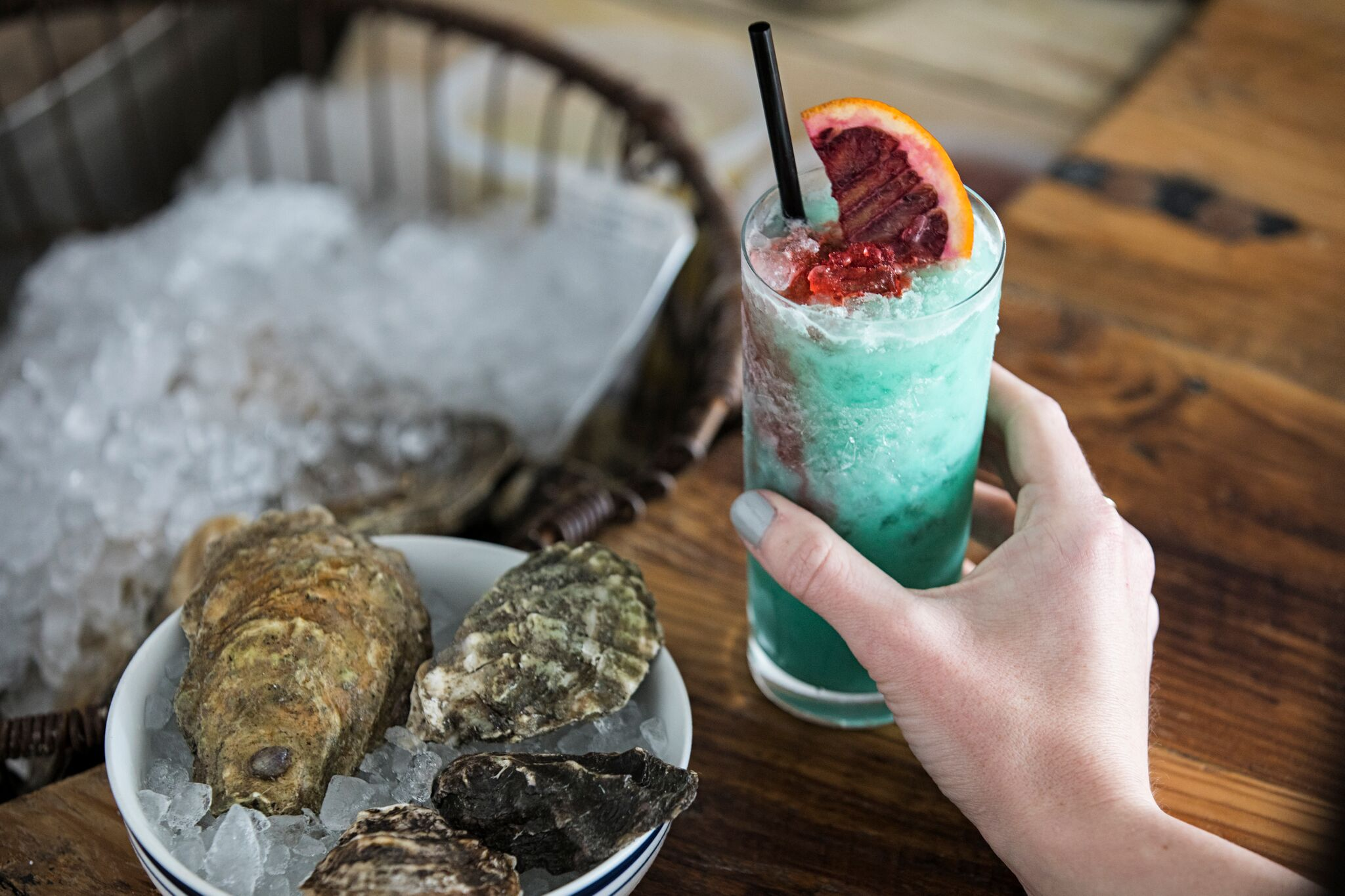 "Raw bar and a ""Sharkbite"" at Dylan's."