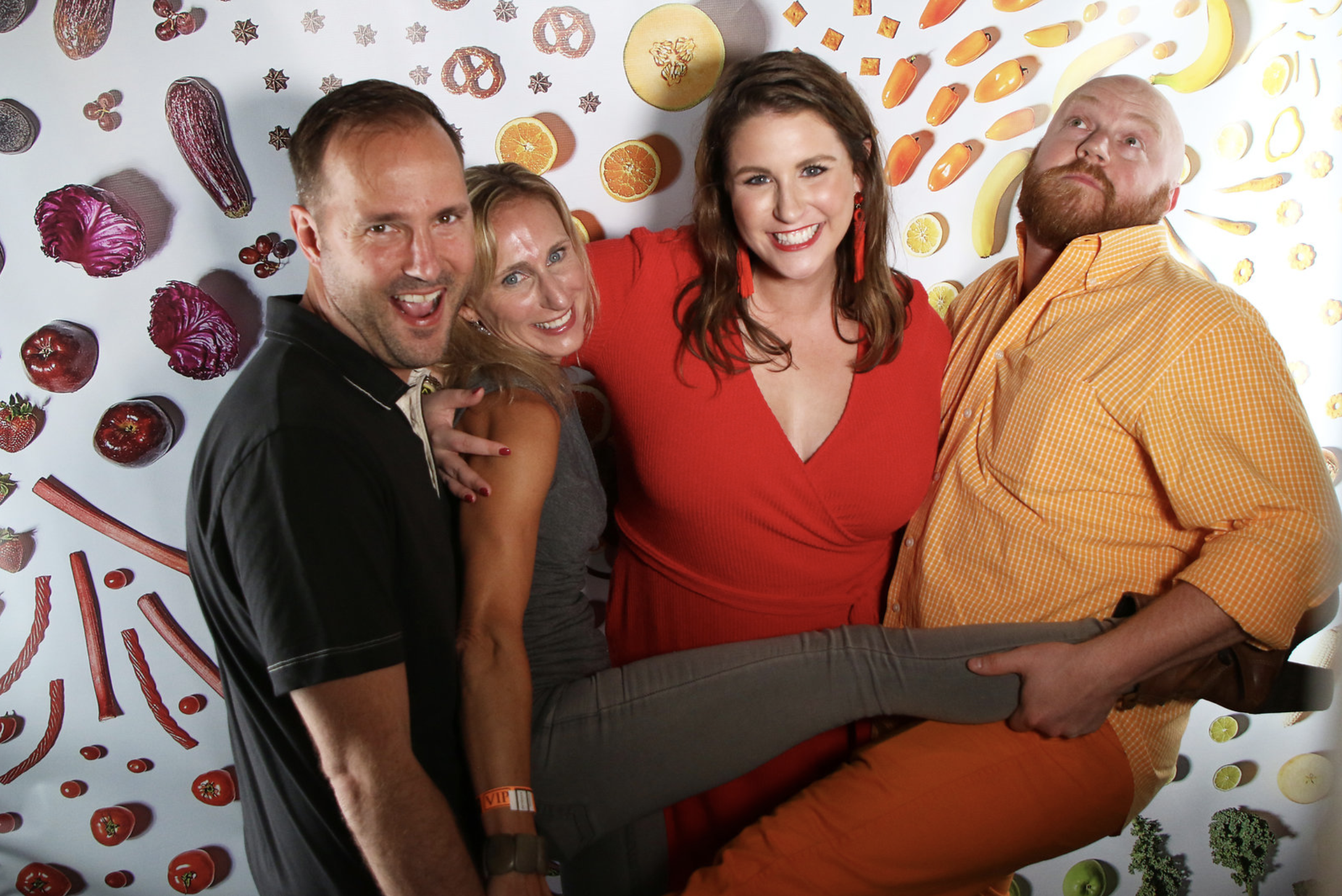 Guests enjoying our food themed photo booth designed by Limonata Creative and photographed by Tom McCorkle.