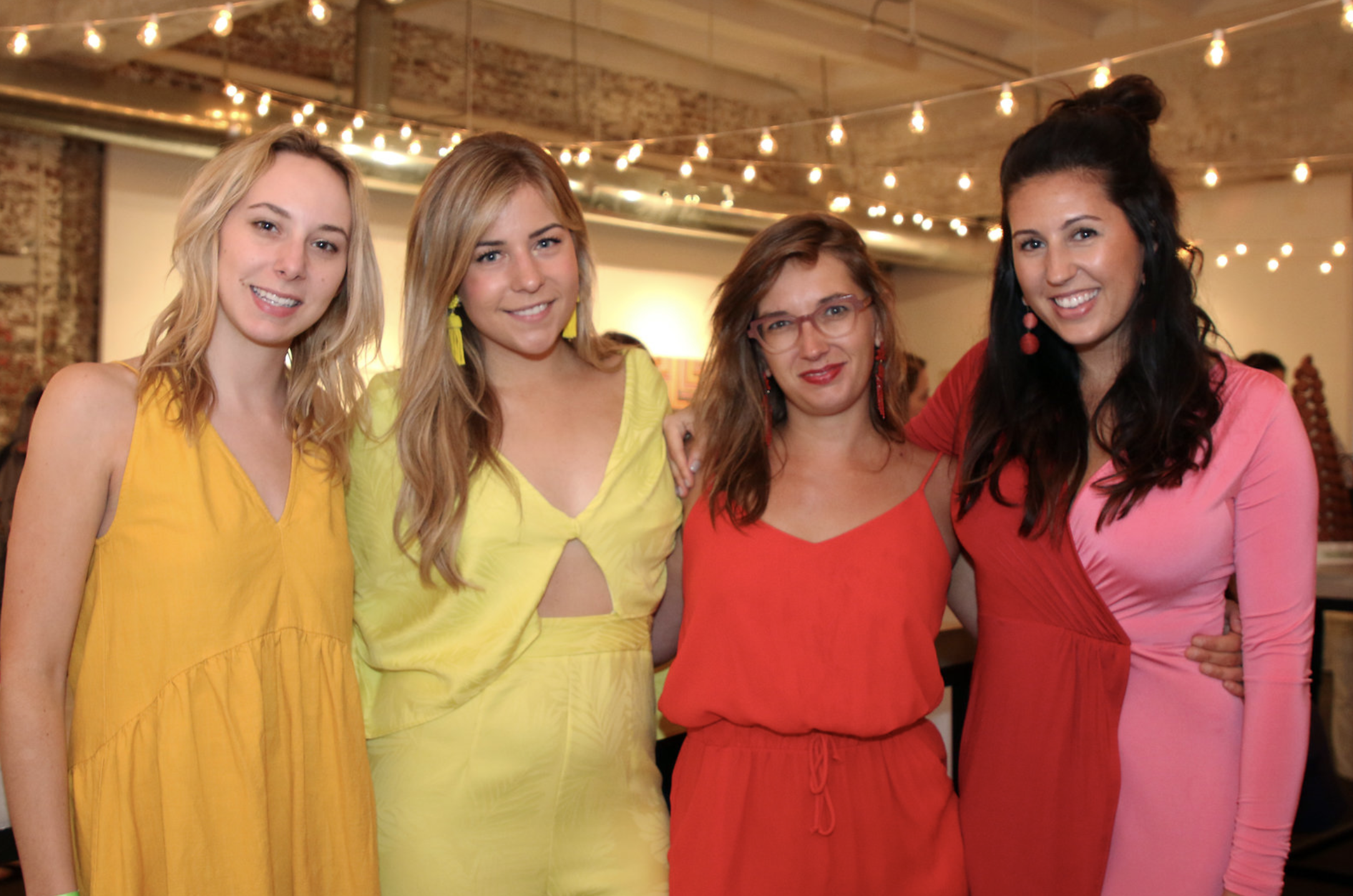 """Bitches Who Brunch, Libby Living Colorfully, and Holley Simmons dressing in theme for the """"District of Color."""""""