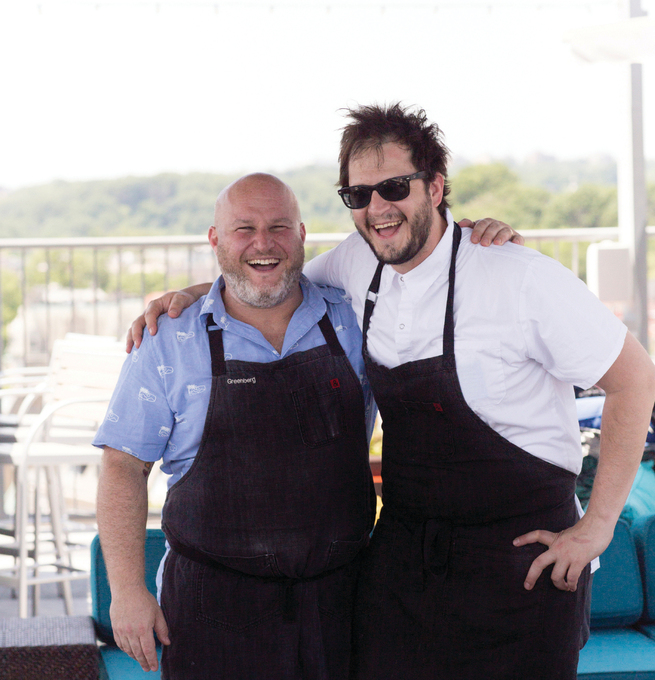 Chefs Adam Greenberg and Christian Irabién