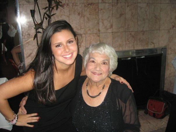 Alexandra with her grandmother