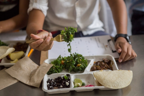 Chef Ruben García's build-your-own-tacos dish was enjoyed by both kids and grown-ups alike.