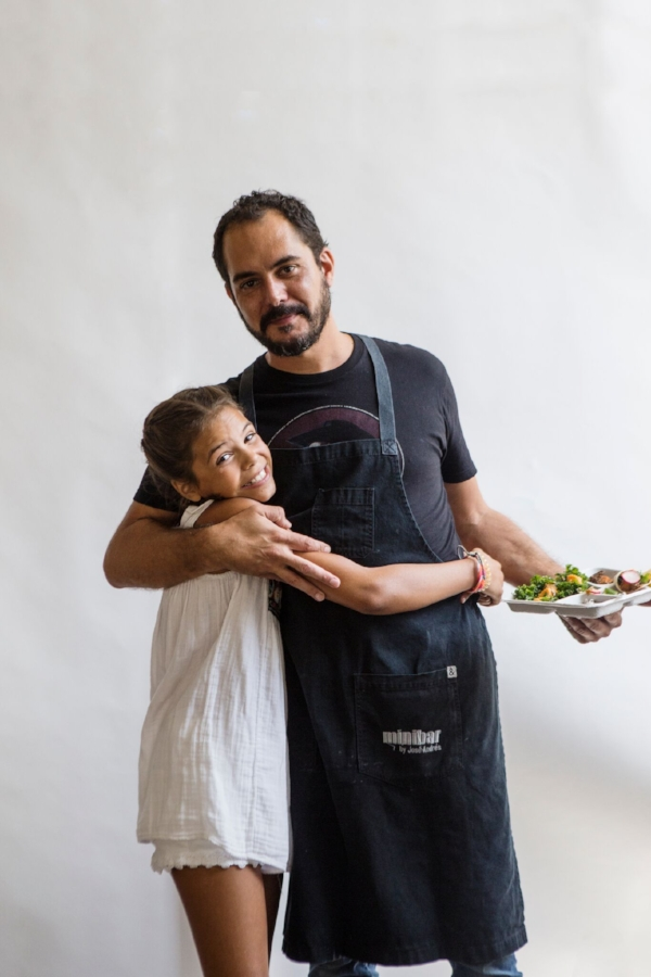 Chef García with his daughter, Lucia.