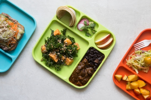 No school lunch would be complete without an iconic colorful tray.