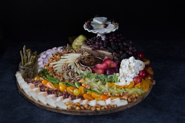 Variation in color and size add depth and visual appeal to your cheese spread.