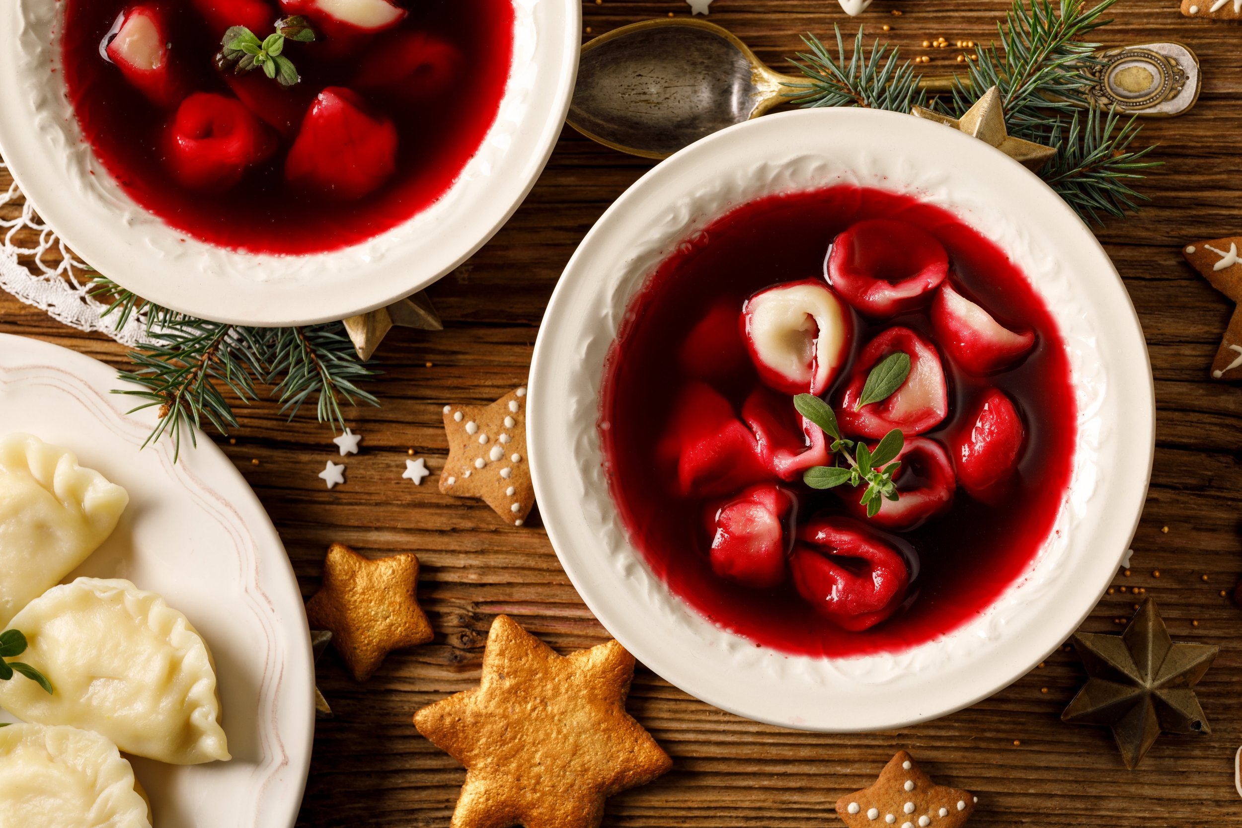 Borscht is a traditional Christmas Eve dish in Poland. Gorgeous red color from beets makes this soup a very festive course. Spice & Tea has all the ingredients to make a spectacular soup.