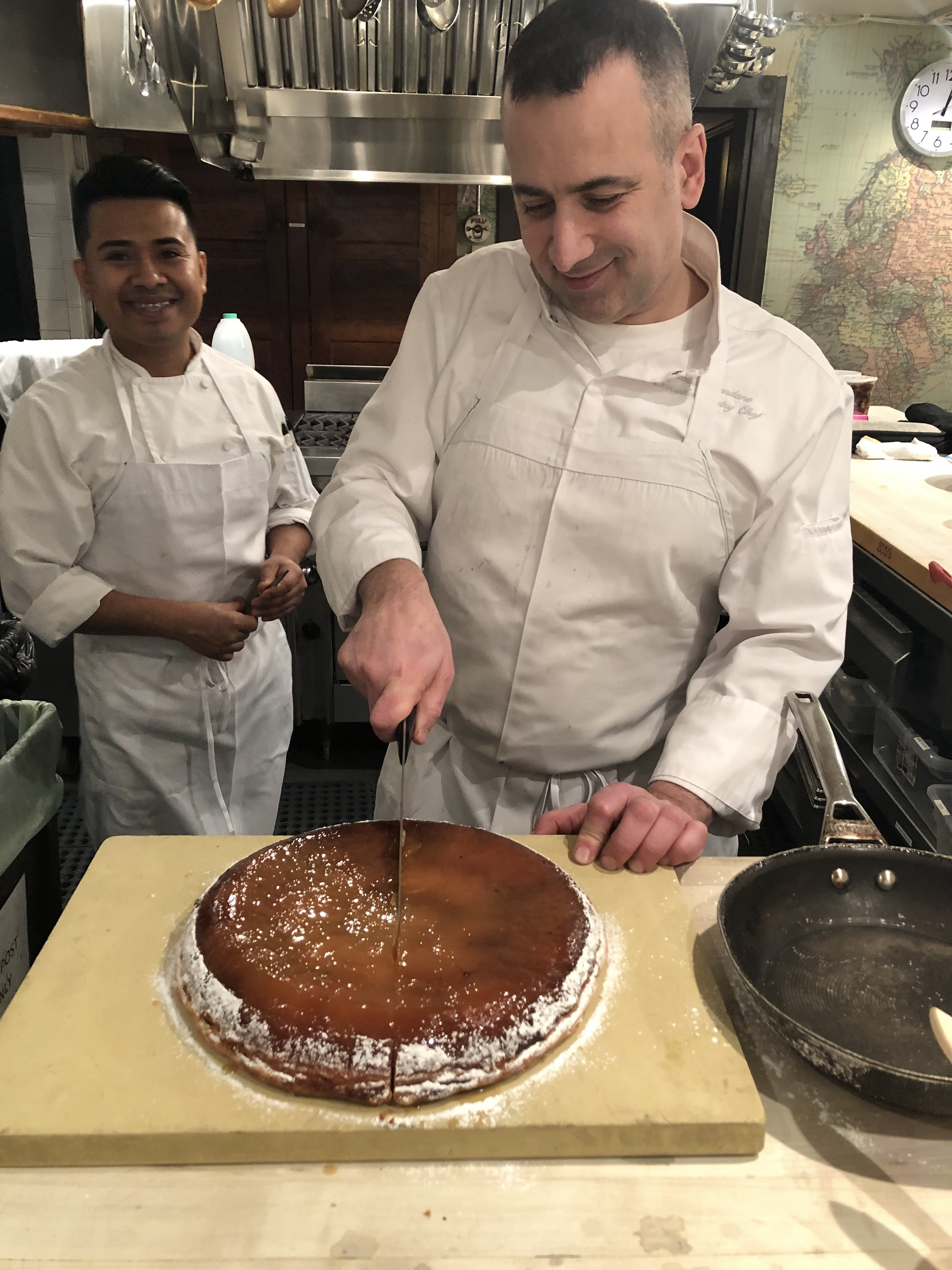 Still dreaming of this tarte tatin by Fabrice Bendano from Le Diplomate.
