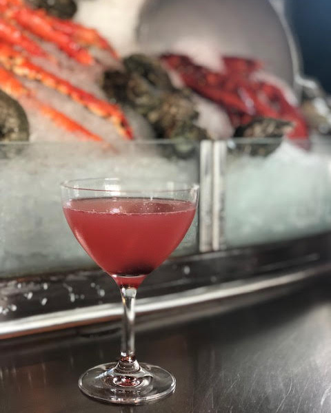 The Cherry Blossom Cosmo at Oceanaire.