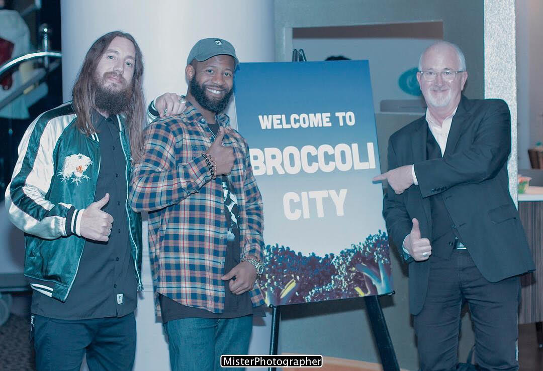 Lastoria, McEachern and Robert Egger (Founder of DC Kitchen) at the first BroccoliCon 2017