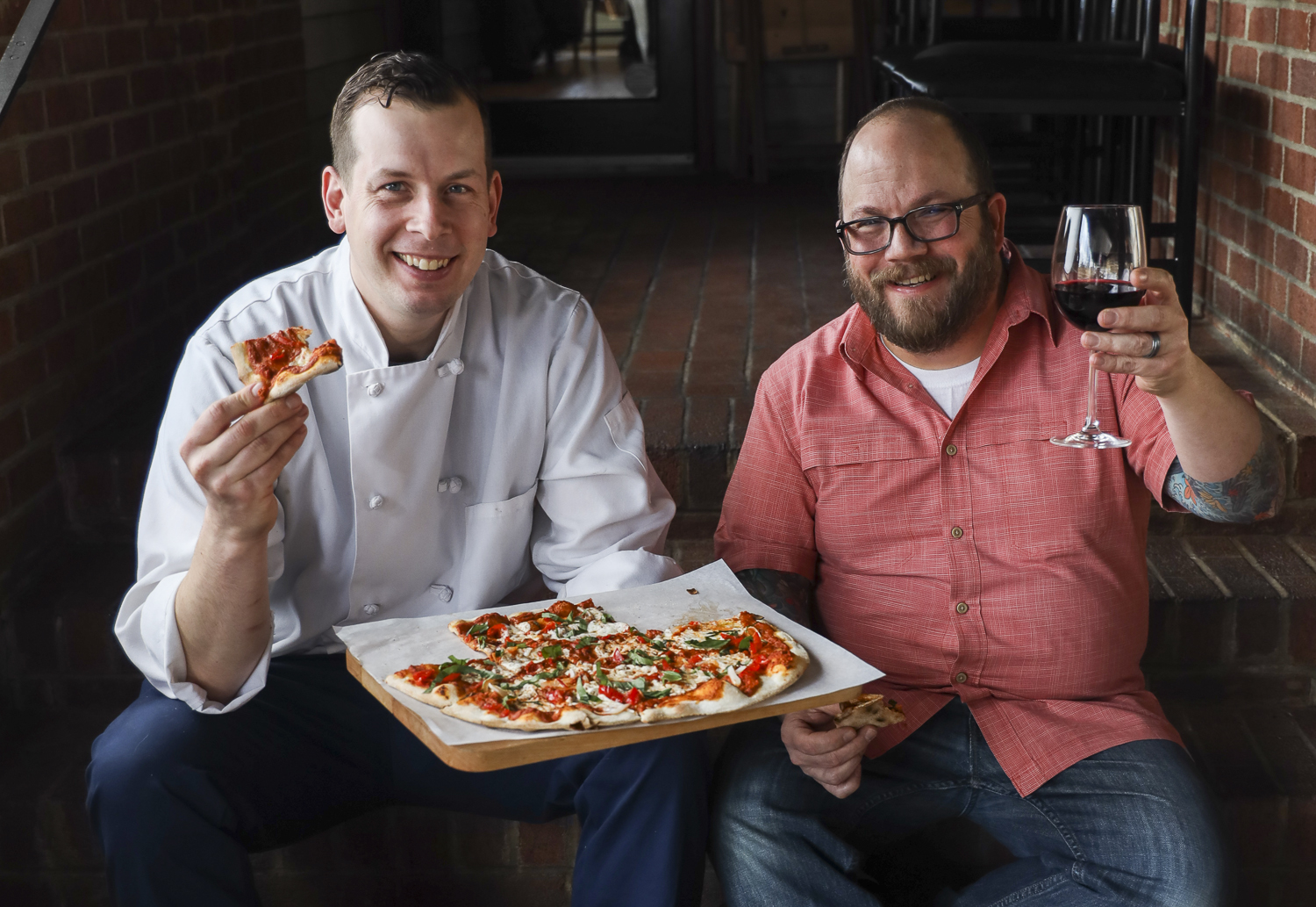 Justin Moore and Alex Manfredonia at VIN 909 in the Eastport neighborhood.