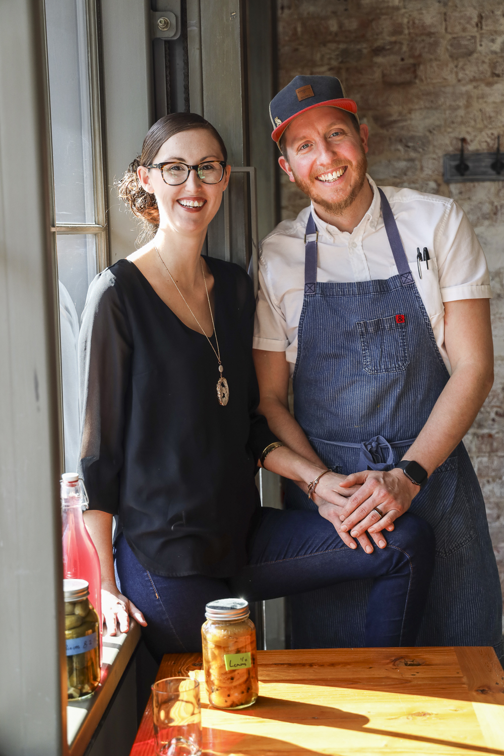The Hoffmans, Michelle and Jeremy, welcome diners to their intimate restaurant that features house-made ingredients for the bar and kitchen, from local ingredients.