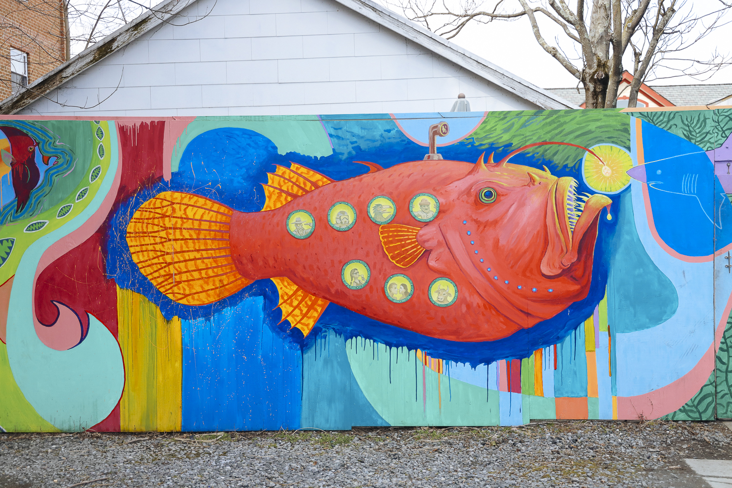 Murals pop up in unexpected places throughout Annapolis.