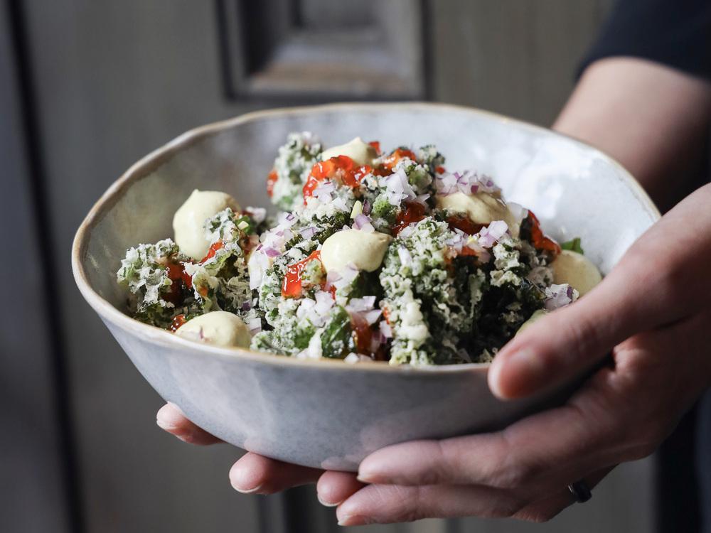Preserve's famous flash fried crispy kale.