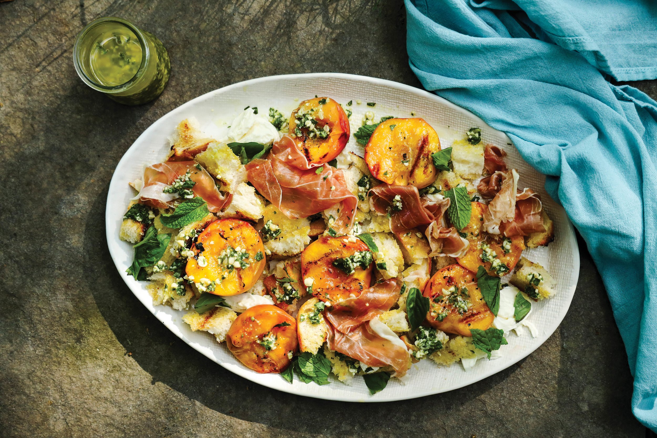 This grilled peach salad is delicious for a summer lunch or dinner.