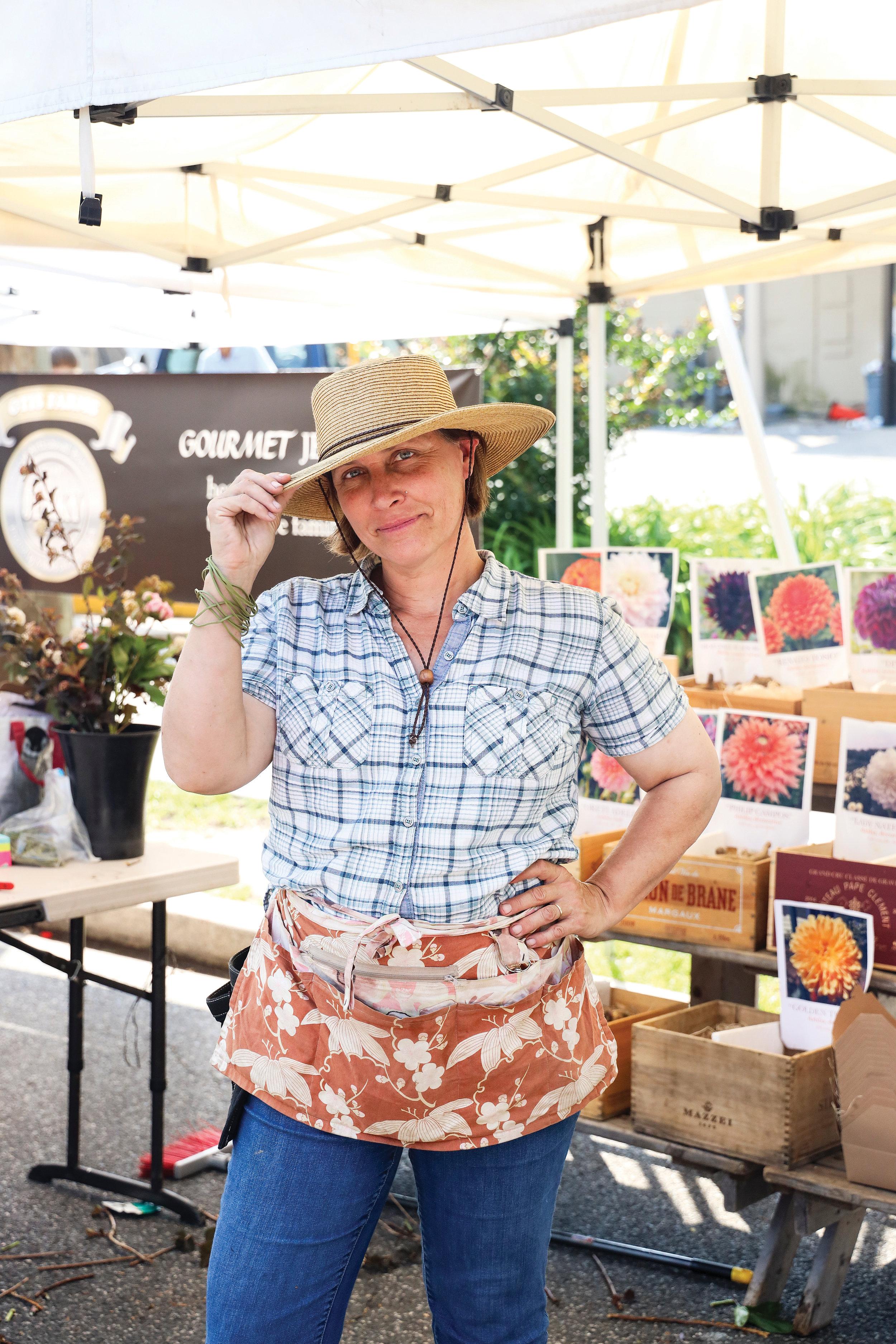 Andrea Gagnon at the Palisades Farm Market. Photo by Jennifer Chase