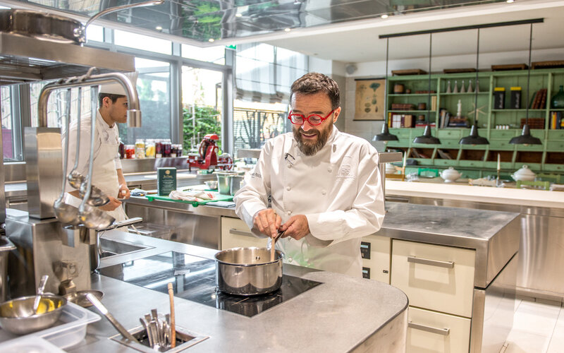 Chef Giancarlo Morelli at work.