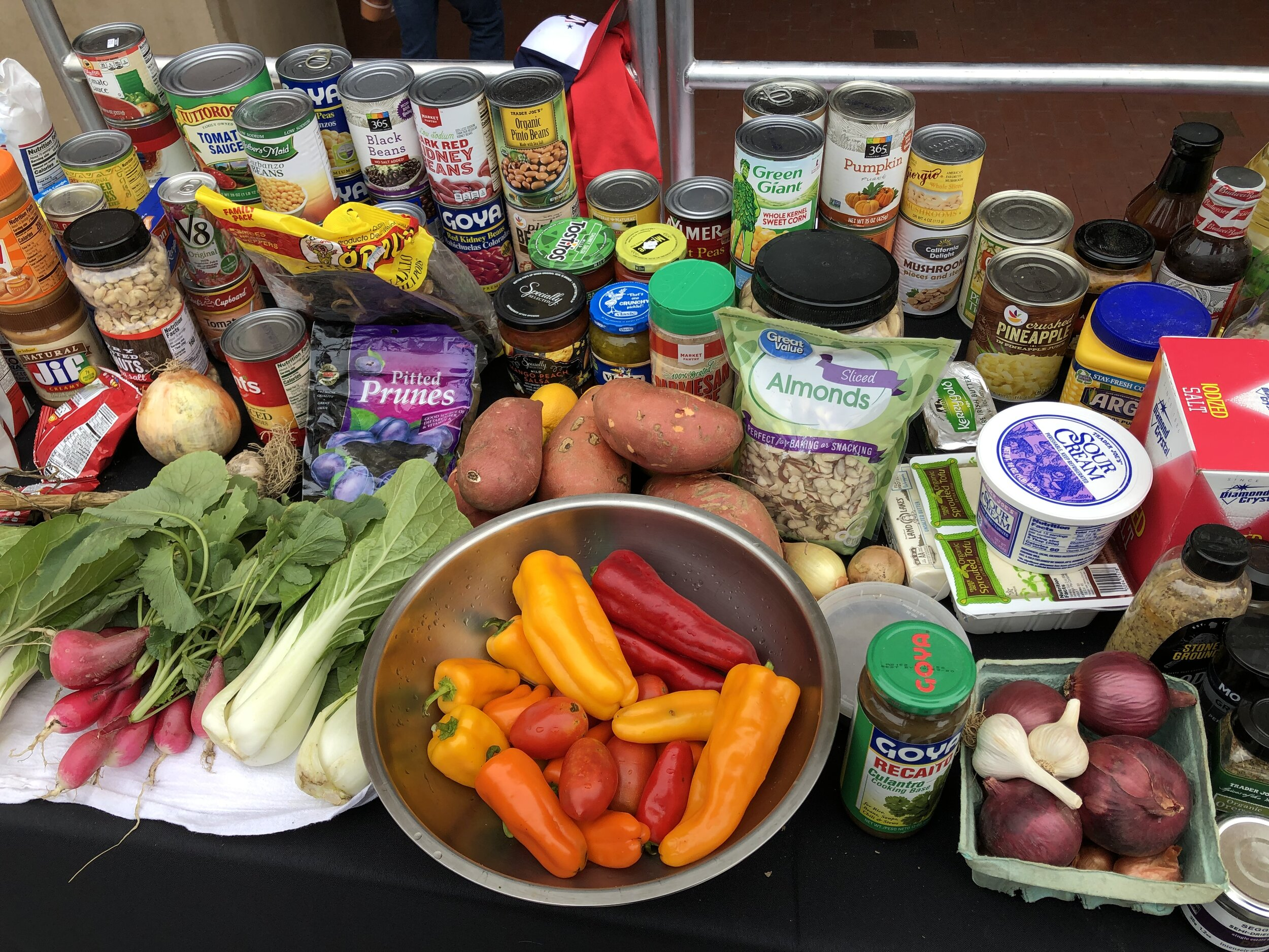 """Manna Food Center's  cooking competition featured """"ugly produce"""" and product from a food pantry to highlight hunger awareness."""